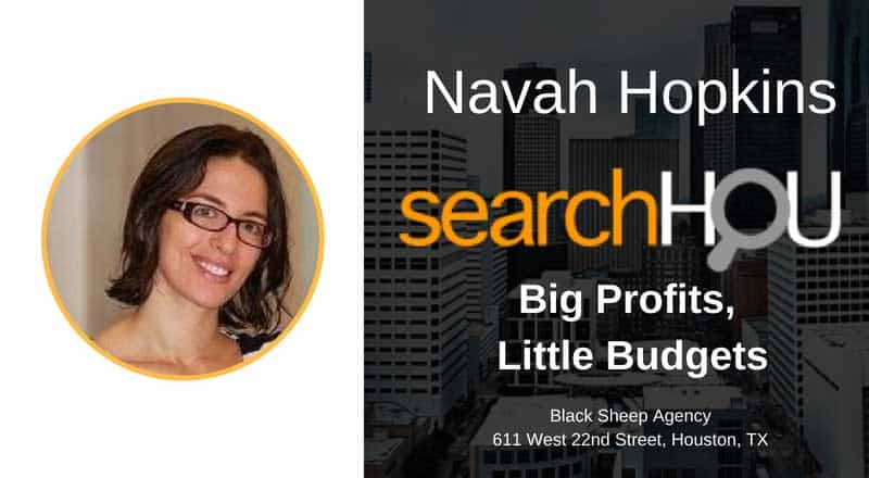 Navah Hopkins At SearchHOU a Digital Marketing Group in Houston, TX