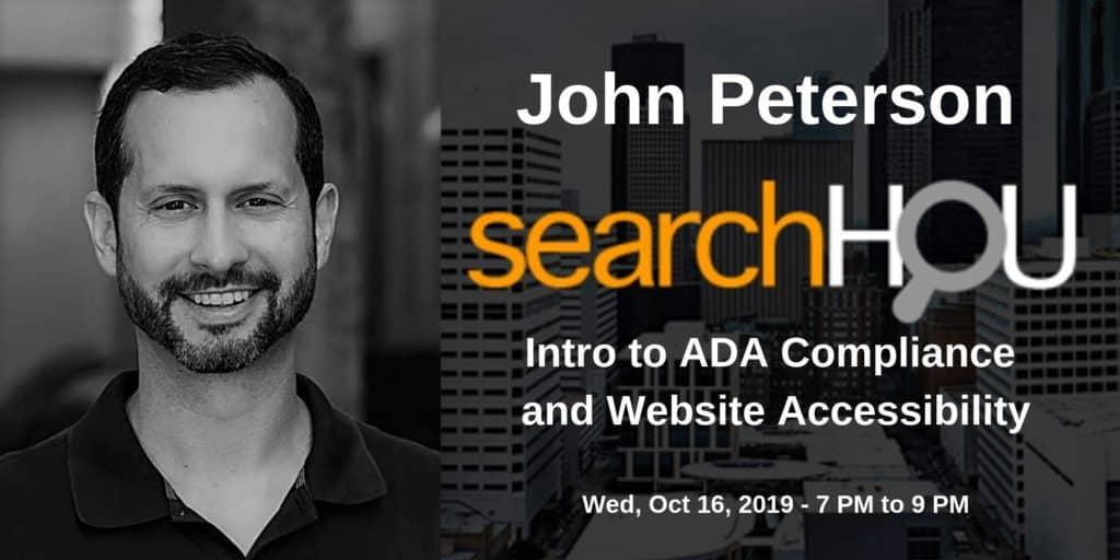 SearchHOU Digital Marketing Group - Houston, TX - John Peterson